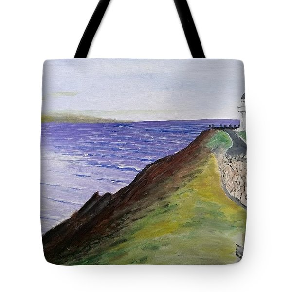 Tote Bag featuring the painting New Zealand Lighthouse by Kevin Daly