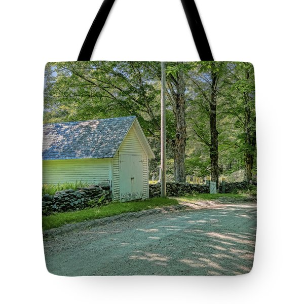 Tote Bag featuring the photograph Newfane Cemetery by Tom Singleton