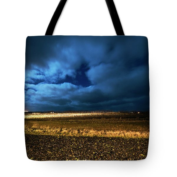 Tote Bag featuring the photograph Icelandic Night  by Dubi Roman