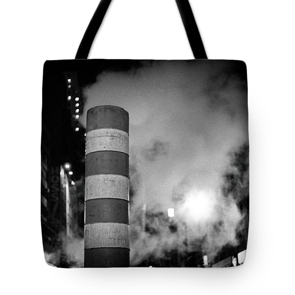 Tote Bag featuring the photograph Night Steam Nyc by Dave Beckerman