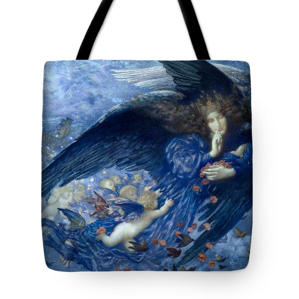Night With Her Train Of Stars Tote Bag