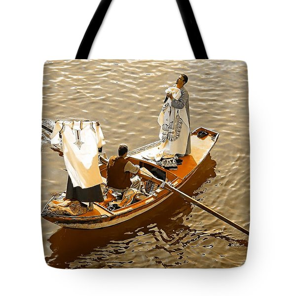 Nile River Merchants Tote Bag by Joseph Hendrix