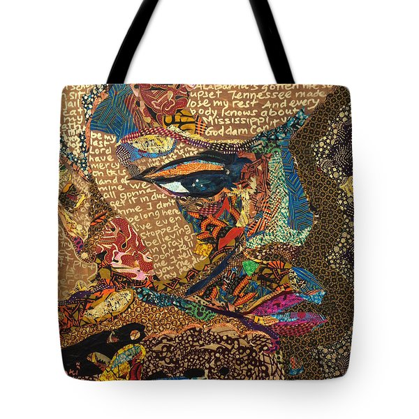 Nina Simone Fragmented- Mississippi Goddamn Tote Bag