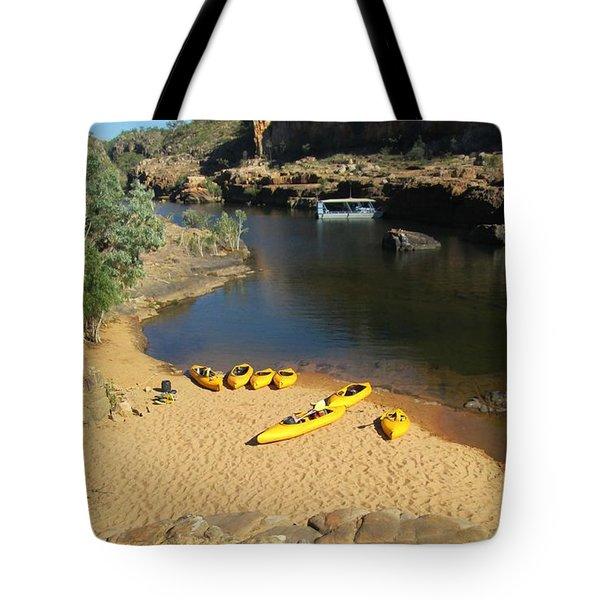 Nitmiluk Gorge Kayaks Tote Bag