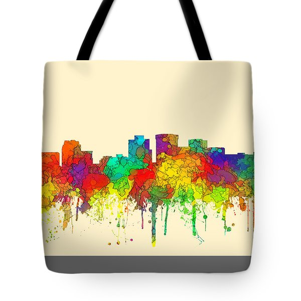Norfolk Virginia Skyline Tote Bag