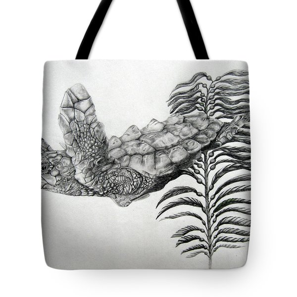 Tote Bag featuring the drawing Norman by Mayhem Mediums
