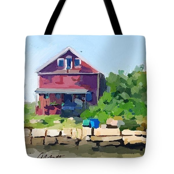 North Shore Art Association At Reed's Wharf Tote Bag