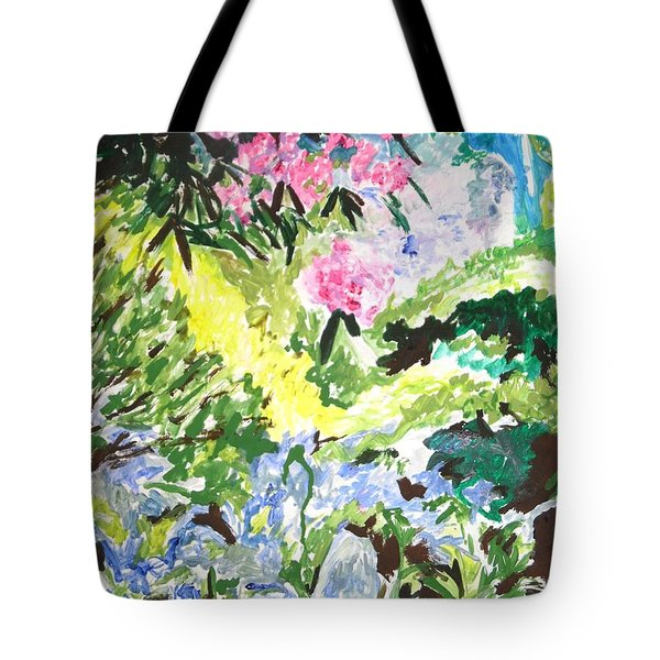 Tote Bag featuring the painting Northern Glen by Esther Newman-Cohen
