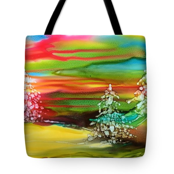 Northern Lights Tote Bag by Pat Purdy