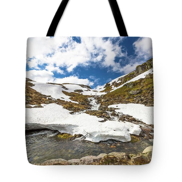 Norway Mountain Landscape Tote Bag