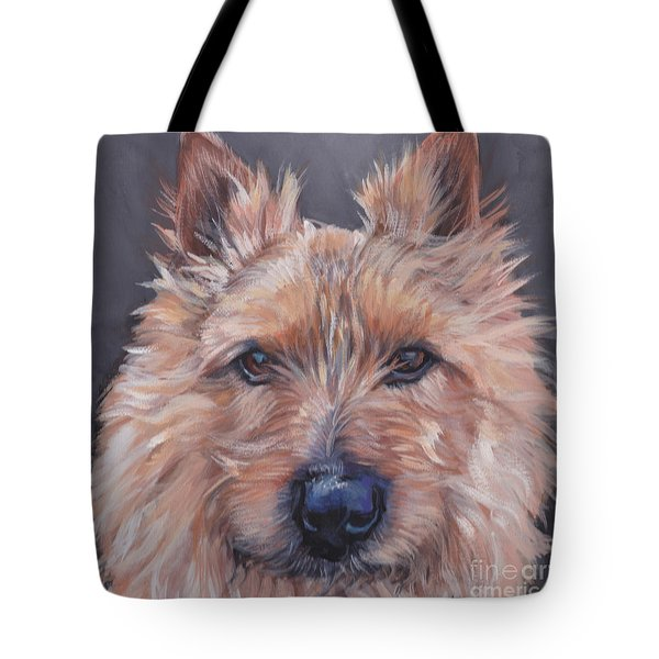 Tote Bag featuring the painting Norwich Terrier by Lee Ann Shepard
