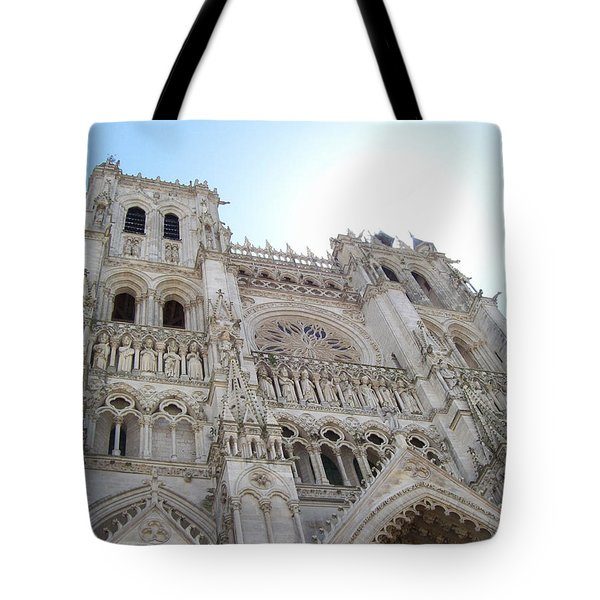 Notre-dame D'amiens Tote Bag by Mary Mikawoz