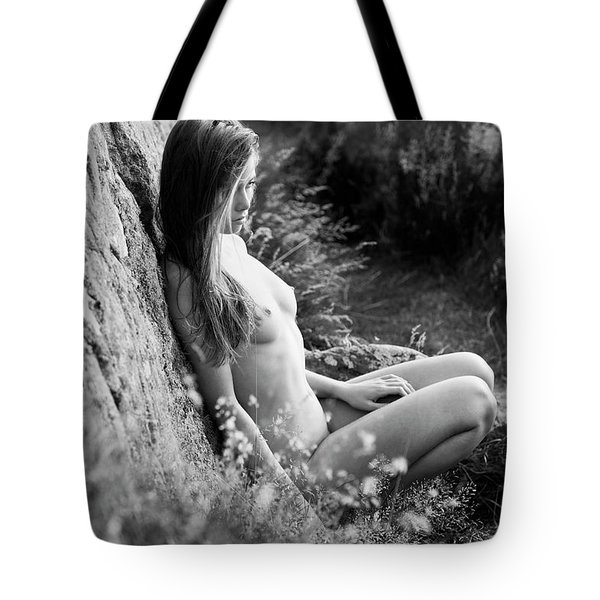 Nude Girl In The Nature Tote Bag