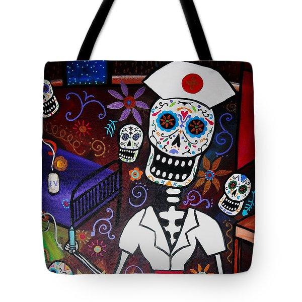 Nurse Dia De Los Muertos  Tote Bag