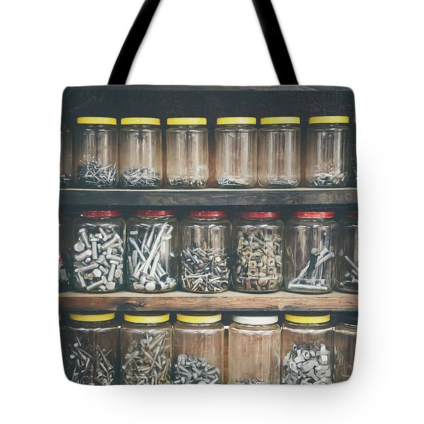 Nuts And Bolts And Bolts And Nuts Tote Bag