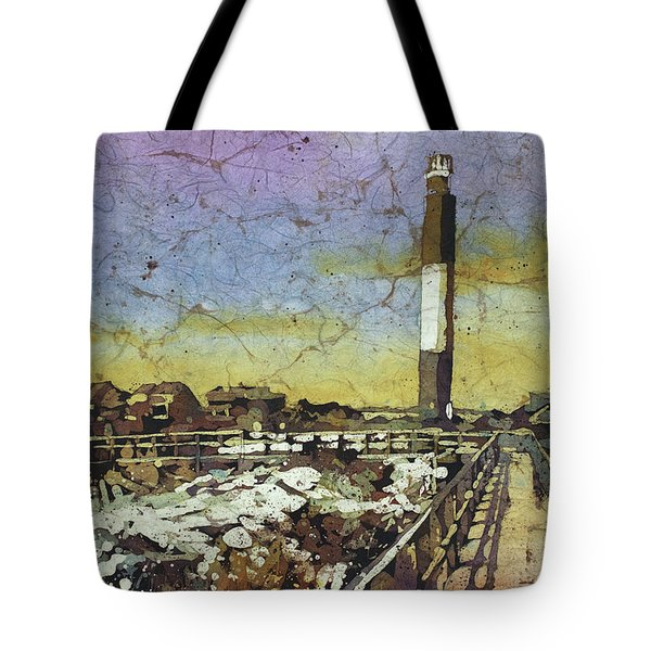 Oak Island Lighthouse Tote Bag
