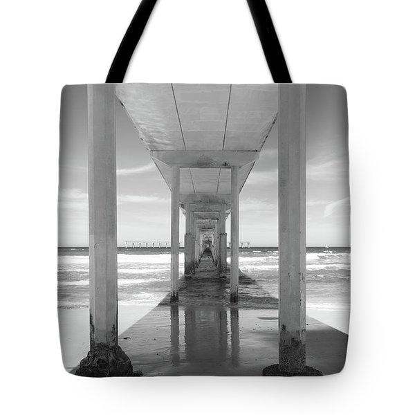 Tote Bag featuring the photograph Ocean Beach Pier by Ana V Ramirez