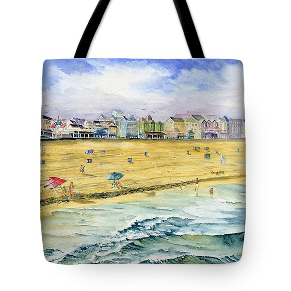 Ocean City Maryland Tote Bag by Melly Terpening
