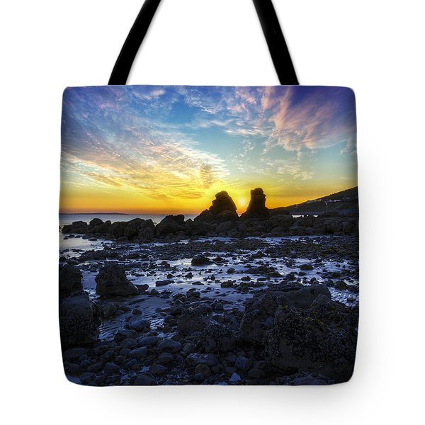 Ocean Sunset Tote Bag by Ian Mitchell