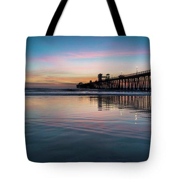 Oceanside Pier Sunset Tote Bag