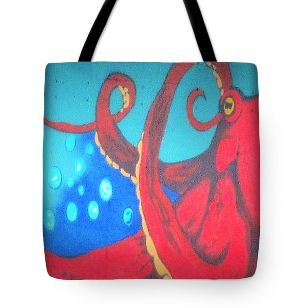 Octopus Tote Bag by Martin Cline