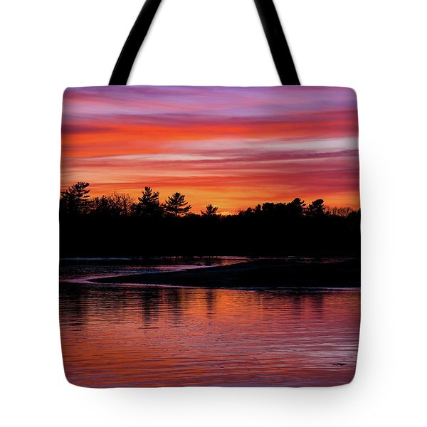 Odiorne Point Sunset Tote Bag