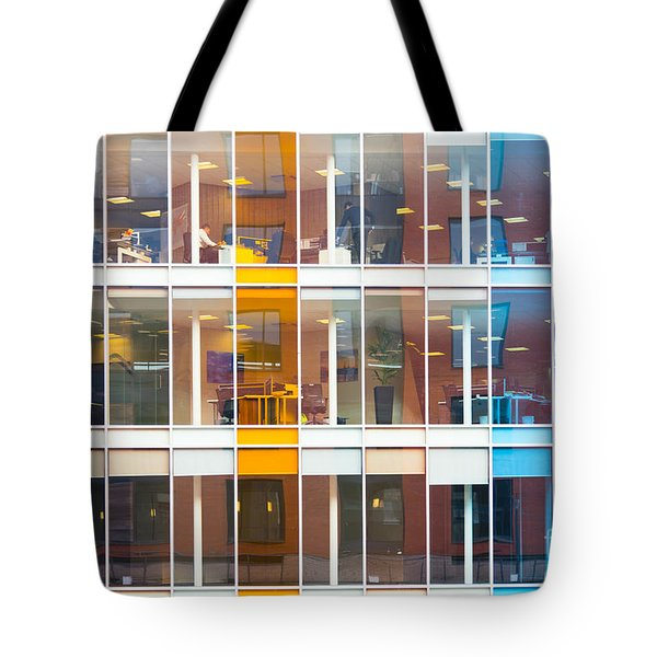 Office Windows Tote Bag by Colin Rayner