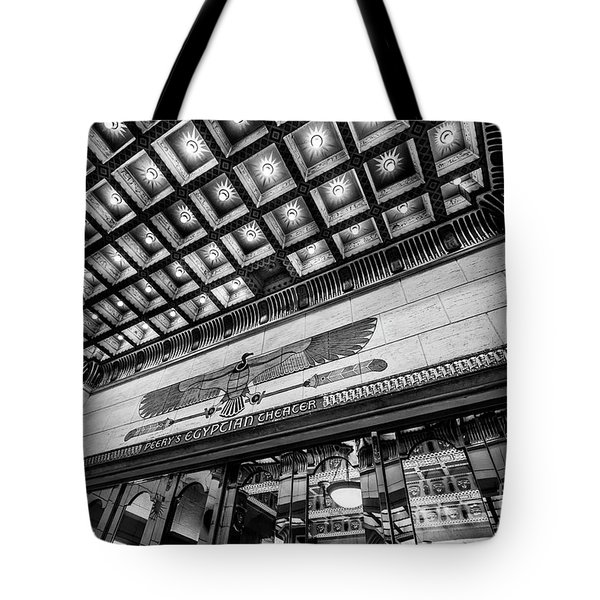 Ogden's Historic Peery's Egyptian Theater At Night Tote Bag by Gary Whitton