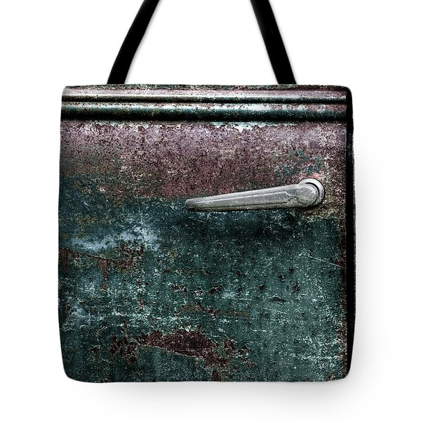 Tote Bag featuring the photograph Old Car Weathered Paint by Carol Leigh