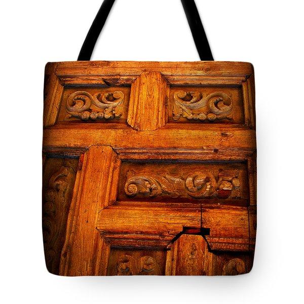 Old Door Tote Bag by Perry Webster