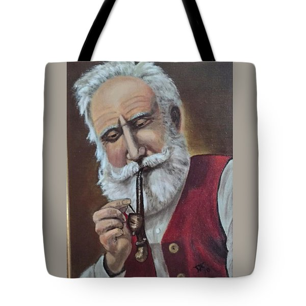Old German With Pipe Tote Bag