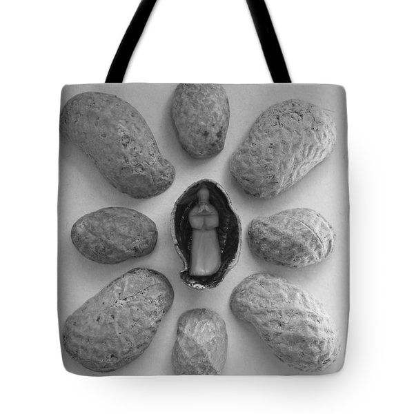 Old Man In The Peanut Tote Bag
