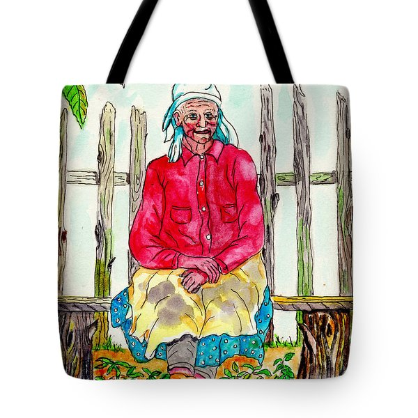 Old Migrant Worker, Resting, Arcadia, Florida 1975 Tote Bag