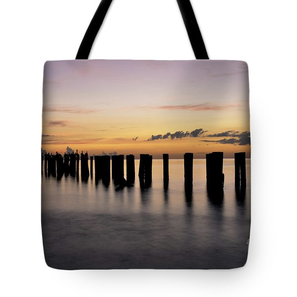 Tote Bag featuring the photograph Old Naples Pier by Kelly Wade