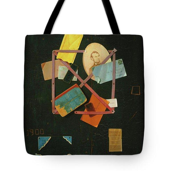 Old Time Card Rack Tote Bag