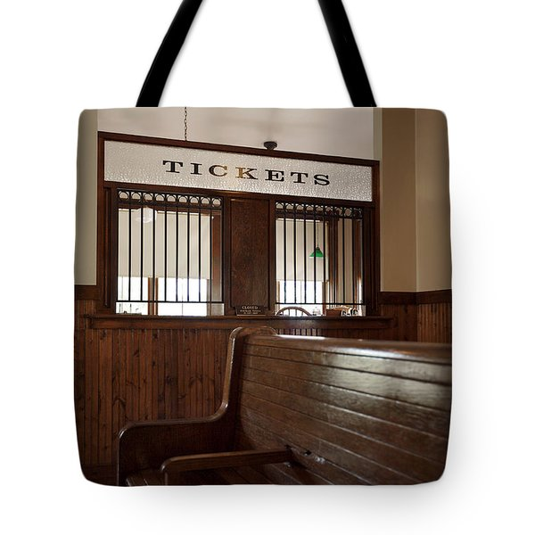 Old Time Train Station Tote Bag