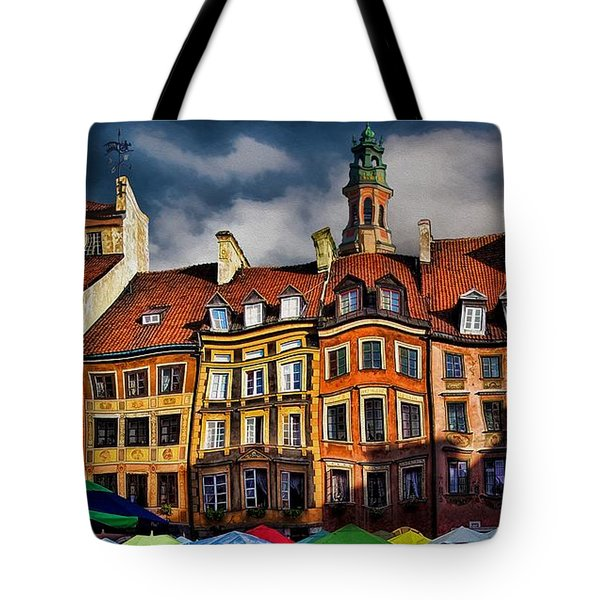 Old Town In Warsaw #8 Tote Bag