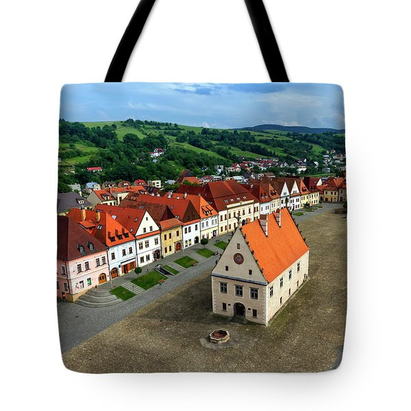 Old Town Square In Bardejov, Slovakia Tote Bag by Elenarts - Elena Duvernay photo
