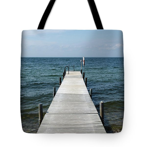 Tote Bag featuring the photograph Old Wooden Bath Pier by Kennerth and Birgitta Kullman