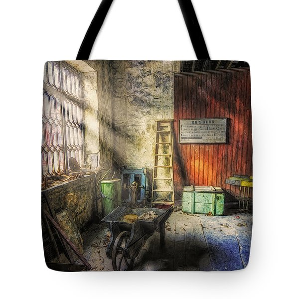 Olde Victorian Slate Workshop Tote Bag by Ian Mitchell