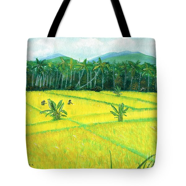 Tote Bag featuring the painting On The Way To Ubud II Bali Indonesia by Melly Terpening