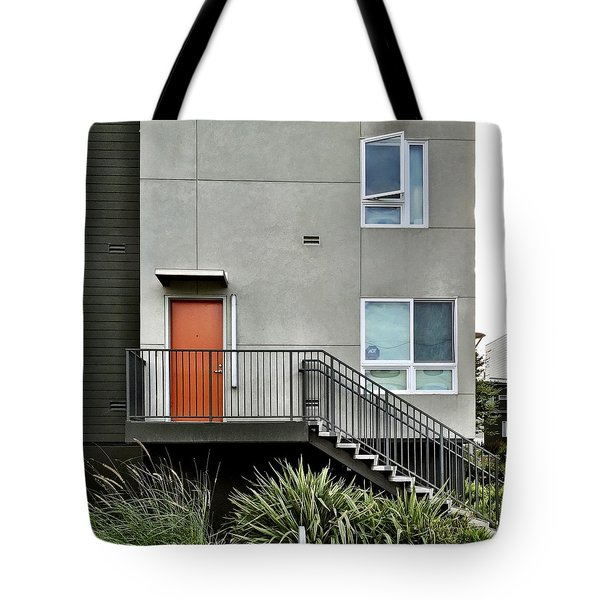Orange Door Tote Bag by Julie Gebhardt
