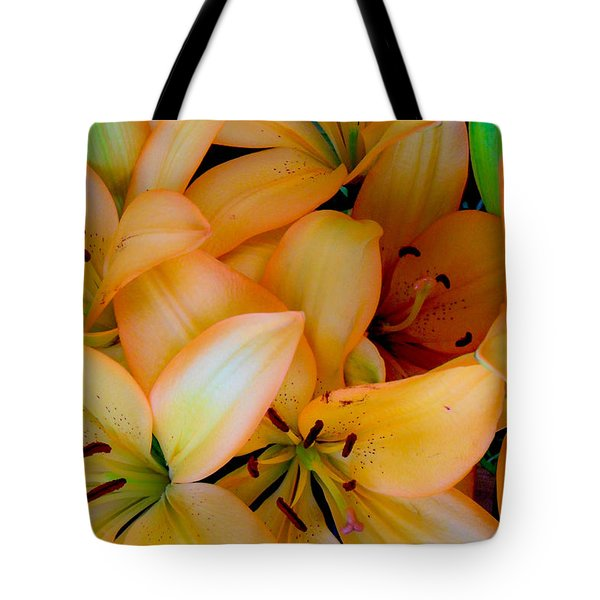 Orange Lilies Tote Bag by Mark Barclay