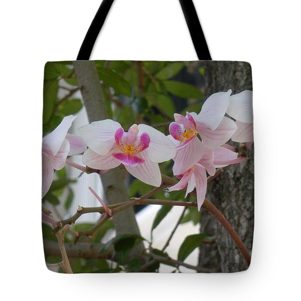 Orchid Bunch Tote Bag by Maria Bonnier-Perez