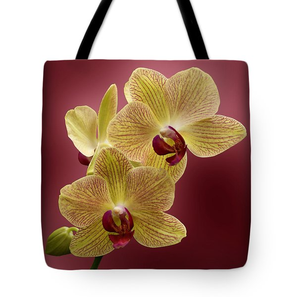 Orchid Tote Bag by Sandy Keeton