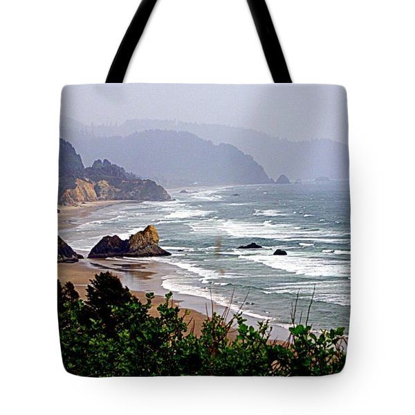 Oregon Coastline Tote Bag