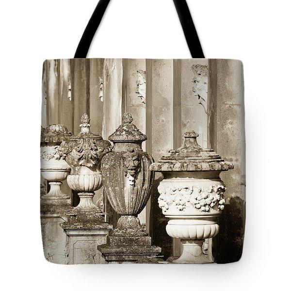 Ornate Garden Urns. Tote Bag