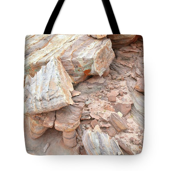 Tote Bag featuring the photograph Ornate Sandstone In Valley Of Fire by Ray Mathis