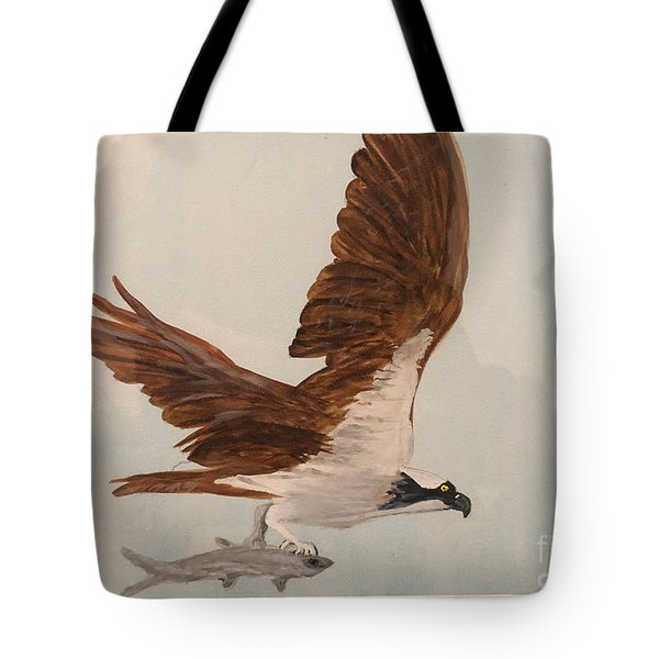Tote Bag featuring the painting Osprey by Donald Paczynski