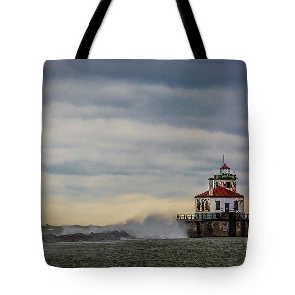 Oswego Harbor West Pierhead Light Tote Bag